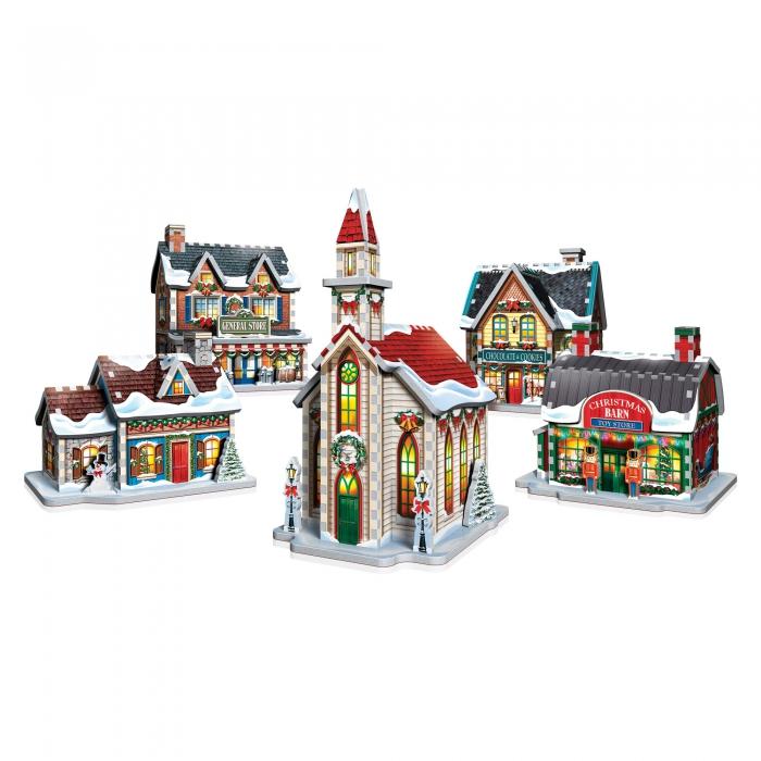 Puzzle, Puzzle 3D, Casse-tête, Casse-tête 3D, Village de Noël, Décoration