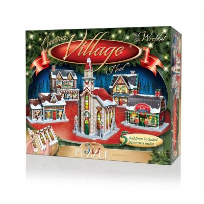 Puzzle, 3D Panel Puzzle, Jigsaw, 3D Jigsaw, Christmas Village