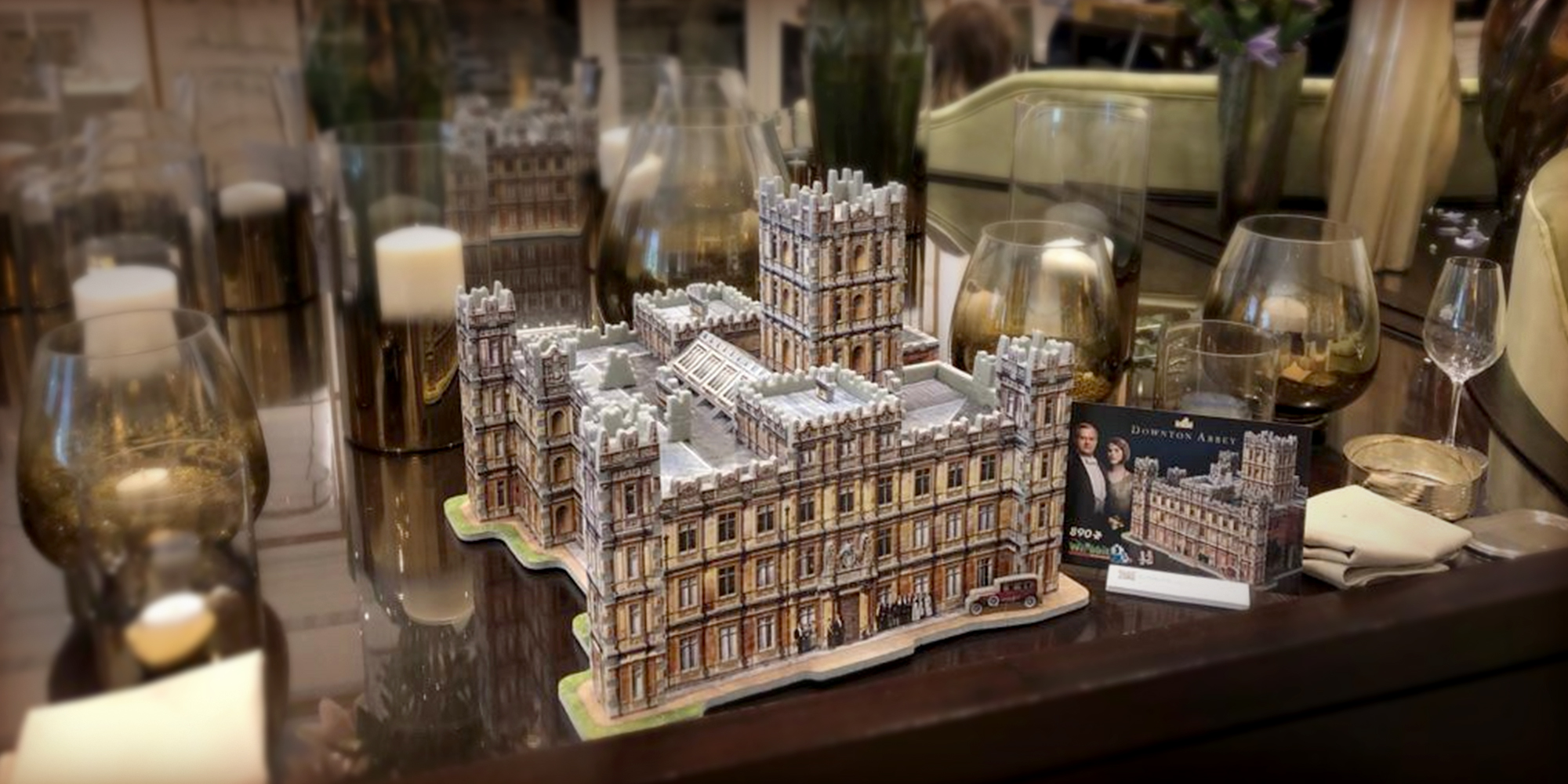 Wrebbit 3D Downton Abbey 3D Puzzle on table