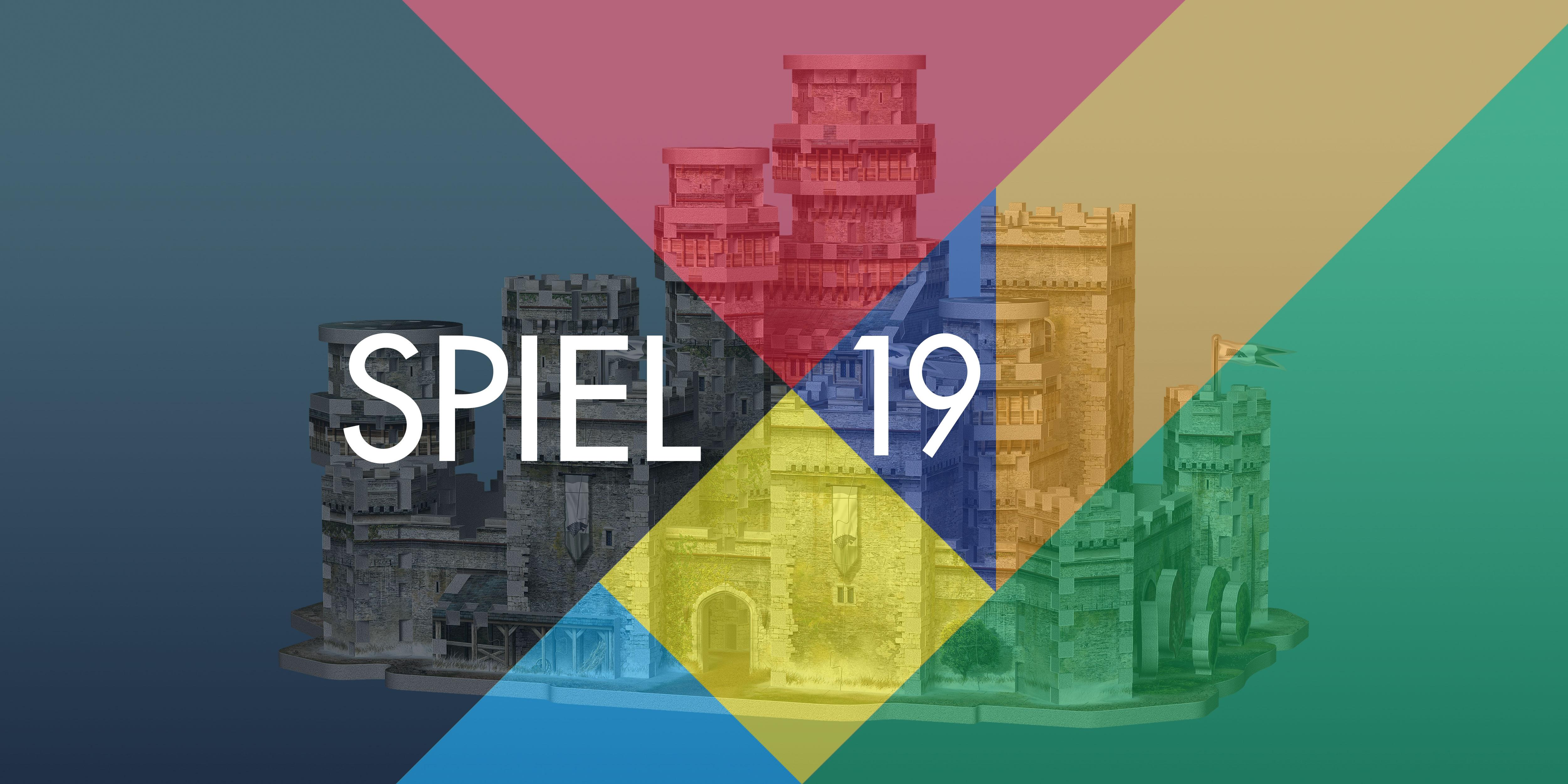Essen Spiel Fair logo with Winterfell 3D puzzle