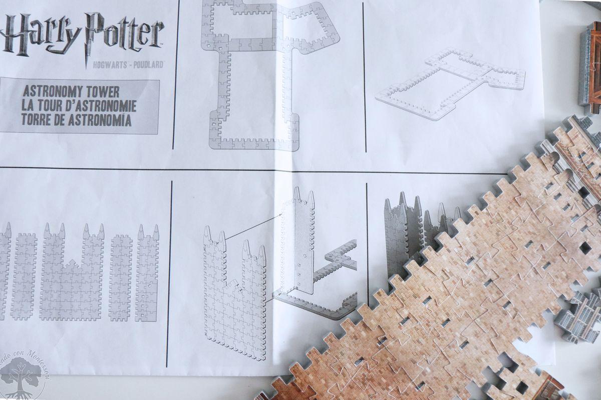 Wrebbit 3D Harry Potter Hogwarts Astronomy Tower Assembly